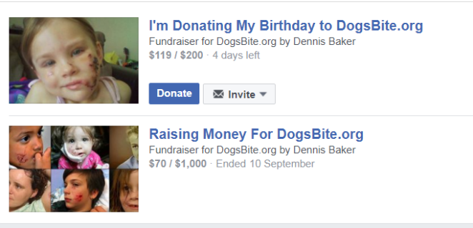 dogsbite fund raising not going so well
