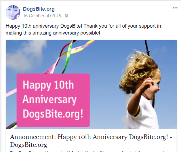 dogsbite ten years
